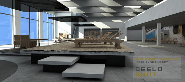 Interieurinrichting showroom voor manutti in deerlijk beeldpunt for Interieurinrichting